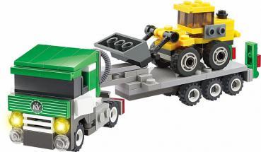 Klocki Blocki MyCity KB8040: Schaufellader mit Transporter - Gebraucht
