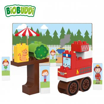 BiOBUDDi Town BB-0127: Feuerwehrauto / Fire Truck - Gebraucht