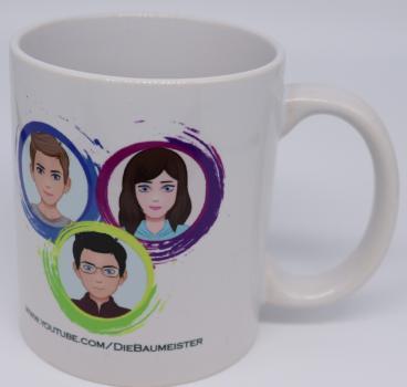 Die Baumeister - Tasse mit Logo und Avataren