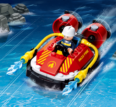 Sluban Fire B0622B: Feuerwehr Luftkissenboot - Gebraucht