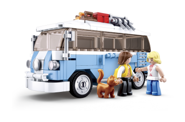 Sluban Model Bricks B0707: Hippie Bus
